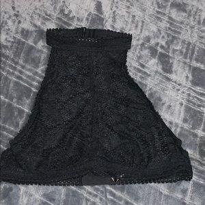 High neck lace  bralette
